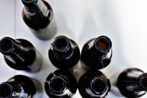 Glass bottles from grociery store